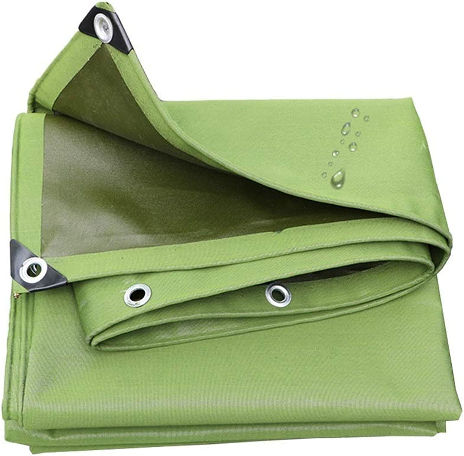 Waterproof tarp Thick Canvas Canvas Cloth Tarpaulin Waterproof Cloth Sunscreen Tarpaulin Large Truck Car Sunshade Rain Oxford Tarpaulin ZHAOFENGE (color   Green, Size   4x5m)