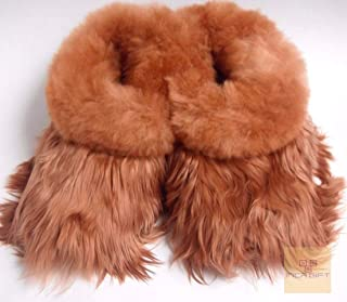 Handmade Alpaca Suri Fur Slippers Made in Peru