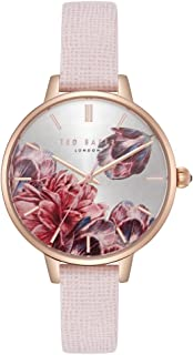 Women's Kate Stainless Steel Quartz Watch with Leather Strap, Pink, 12 (Model: TE50005006)
