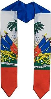 Haiti Haitian flag graduation sash/stole/scarf