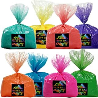 Color Powder Rainbow Run 8 Pack - Ideal for Fun Run Events, Holi Festivals, and Color Wars