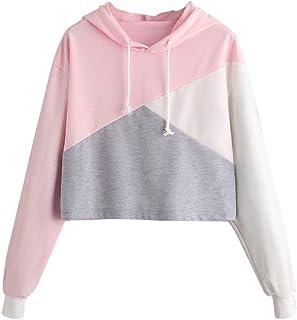 Womens Tops,Sale💖Womens Long Sleeve Hoodie Sweatshirt Jumper Hooded Pullover Tops Blouse