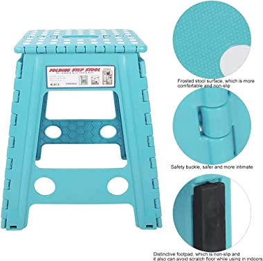 Aoutecen Safety Buckle Dots Stool Adults Chair for School(White dot Sky Blue)