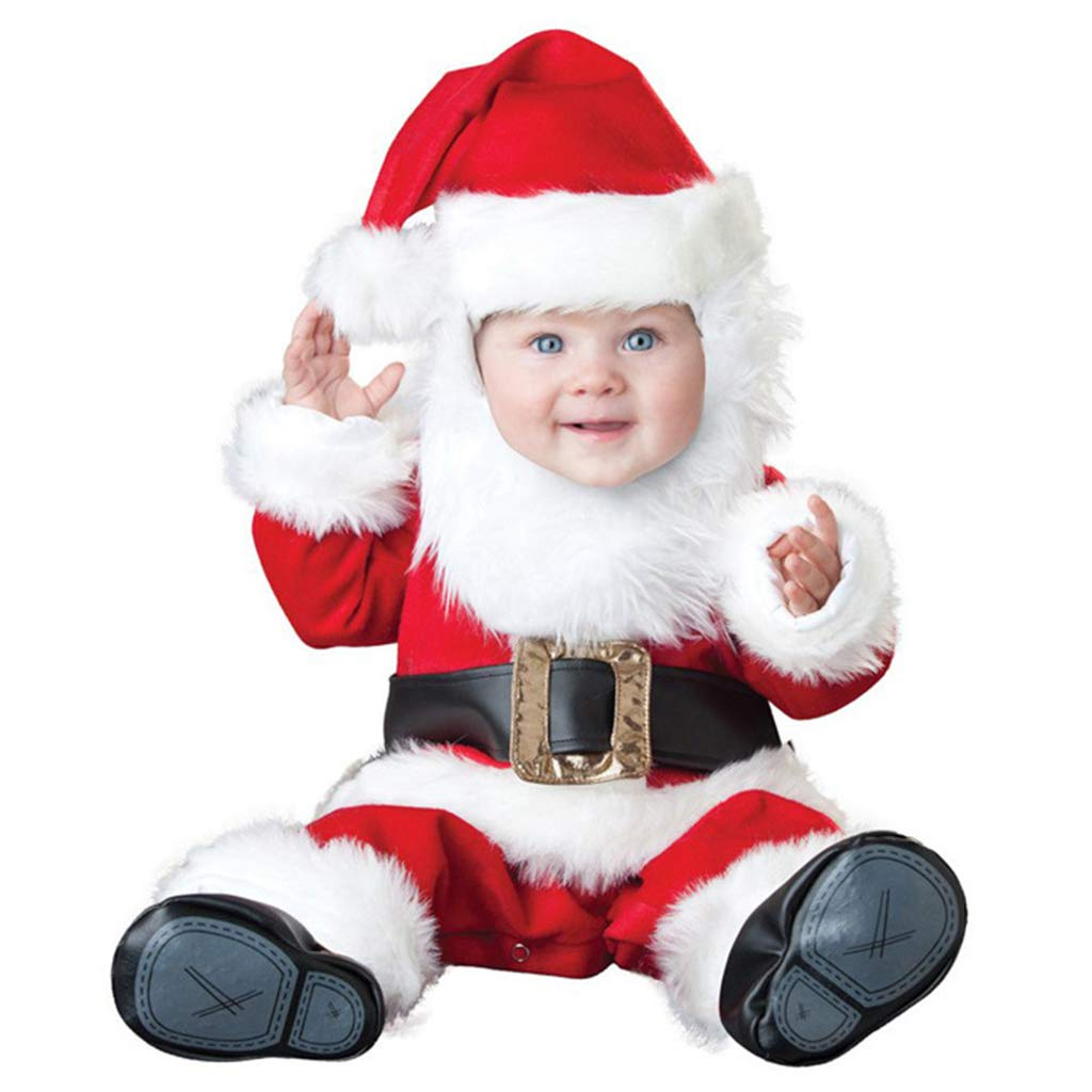 Baby First Christmas Clothing Sets Inexpensive Romper + famous Shoes Party O Hat