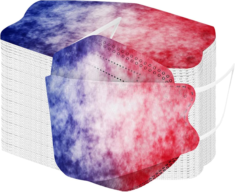 50Pcs Printed KF94 Face_KF94_Mask Adults 3D Desi 4-Layers Over item handling ☆ Ranking TOP18 Filter