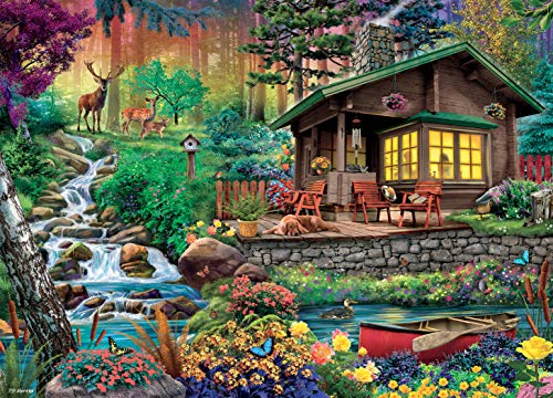 Ceaco Weekend Retreat Collection Wilderness Lodge Jigsaw Puzzle, 1000 Pieces