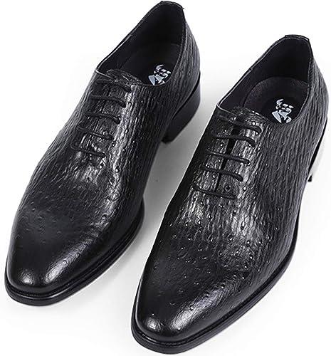 XWQYY Chaussures habillées pour Hommes Chaussures décontractées Britanniques Britanniques pour Hommes Chaussures de Costume augHommestées,noir-39EU  loisir
