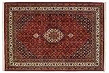 Lifetex.eu Teppich Bidjar ca. 170 x 240 cm Rot handgeknüpft Schurwolle Klassisch hochwertiger Teppich