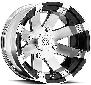 VISION WHEEL - 158 buckshot - 12 Inch Rim x 8 - (4x110) Offset (-10.2) Wheel Finish - gloss black window machined face