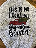 Christmas Movie Watching Blanket - Vintage Truck and Tree - Throw Blanket for Couch - Holiday Gift -Sweater Fleece - 50'x 60'