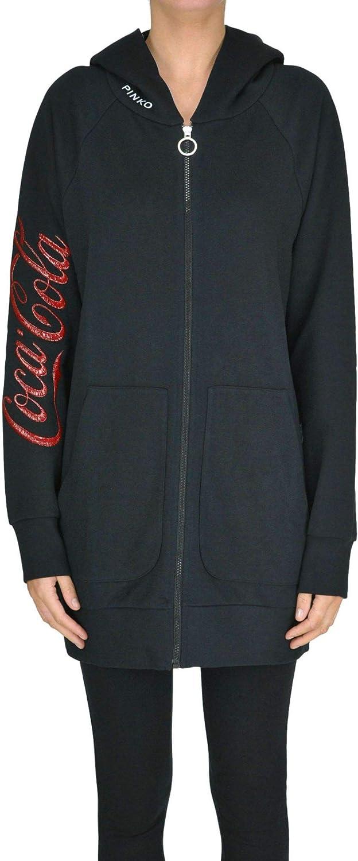 Pinko Women's MCGLFTT000005031E Black Cotton Sweatshirt