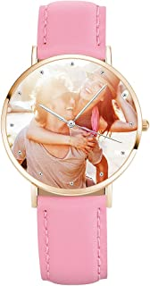 SOUFEEL Custom Photo Watch for Women Personalized Engraved Watch Customized Leather Strap Wrist Outdoor Watches Birthday G...
