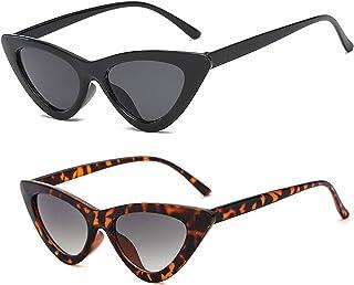 0624e196672d YOSHYA Retro Vintage Narrow Cat Eye Sunglasses for Women Clout Goggles  Plastic Frame