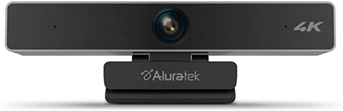 Aluratek Live 4K & 1080P HD USB/Type-C Webcam with Built-in 5X Digital Zoom, Dual Noise Cancelling Mics (AWC4KF)