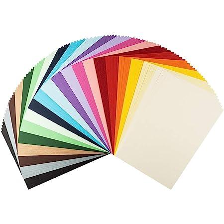 Lot de 100 feuilles de carton d'argile Format A4 220 g/m² 20 couleurs différentes