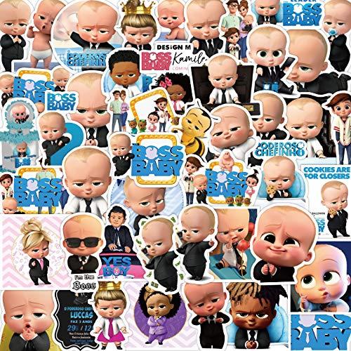 WWLL 50 Etiquetas engomadas del Jefe del bebé de Dibujos Animados Lindo Maleta contraseña Caja monopatín Guitarra Pegatinas Pegatinas