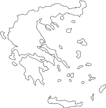 2x Auto Aufkleber Car Sticker Hellas Griechenland Greece Grece Grecia Länderumriss Ca 11x11 Cm Weiß Auto