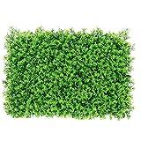 Pannello Siepe artificiale simulato muro vegetale simulato Ivy Fence artificiale Prato Erba schermo del contesto decorativo asparagi verdi, simulato Scenografia Erba decorativo