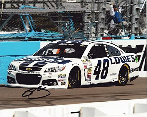 Oklahoma City Mall AUTOGRAPHED 2014 Jimmie Johnson #48 IN Team Large special price !! PHOENIX Racing Lowes