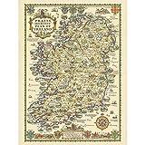 Map Taylor 1933 Pratts High Test Plan Ireland Large Wall