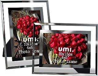 UMI. Essentials 6x4 Glass Photo Frame, Set of 2