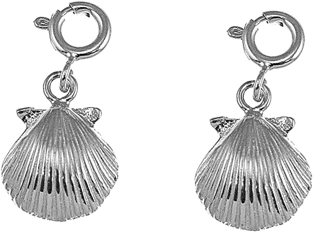 Jewels Obsession Sea Shell Earrings Year-end gift Gold 14K Lever Austin Mall White