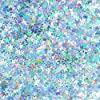 Silver Twinkle Stars Table Confetti - Sparkle Foil Metallic Sequins Confetti Wedding Under The Sea Baby Shower Birthday Party Sprinkles Confetti Decorations, 60g #3