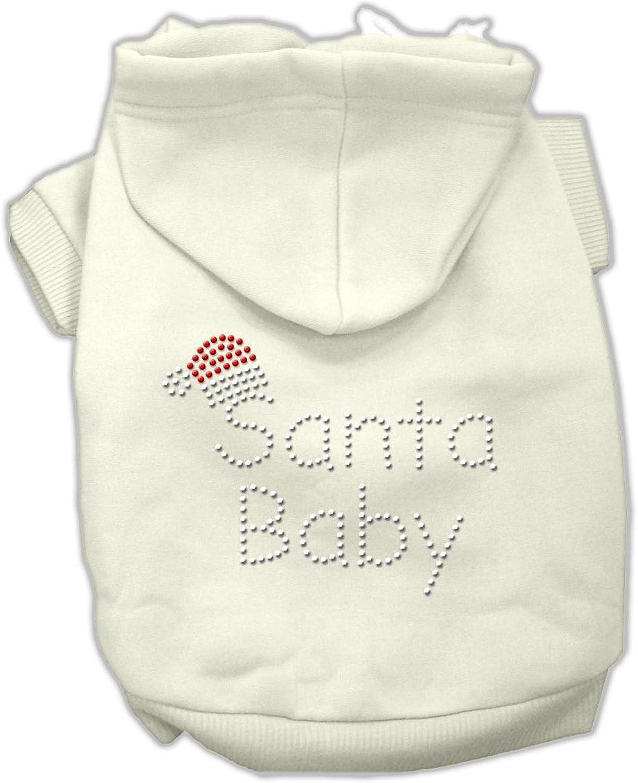 Mirage Pet Products 20Inch Santa Baby Hoodies, 3XLarge, Cream