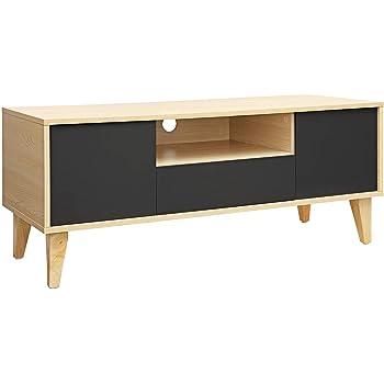 VASAGLE Mesa para TV Moderna, Mueble para TV con Cajón, 2 Puertas ...