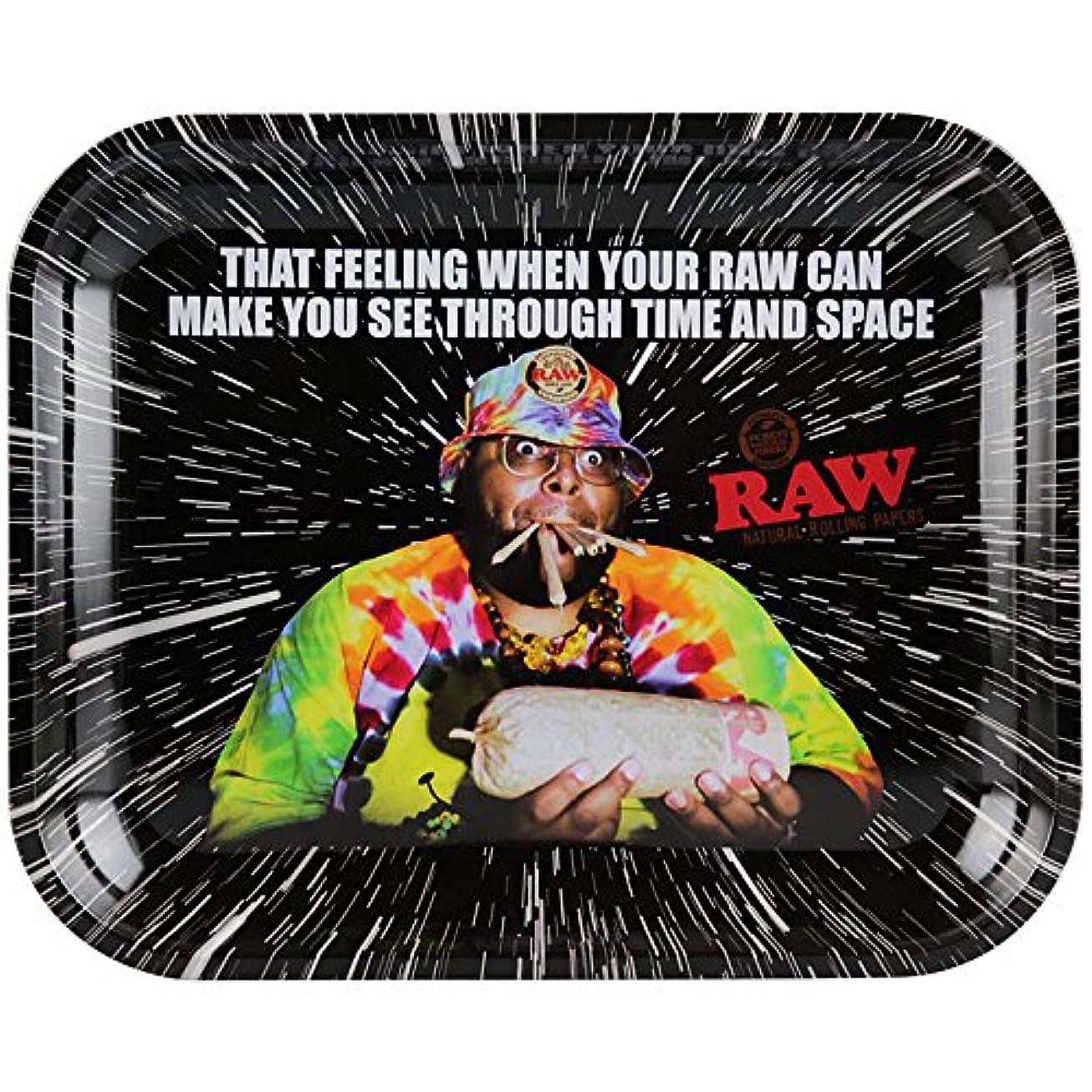 病院人差し指穴RAW PAPER ROLLING TRAY TIME&SPACE LARGE-ロウペーパー ローリングトレイ タイム&スペース ラージ