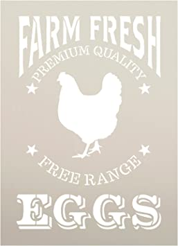 Farm Sweet Farm Farmhouse Chicken Sign Stencil Reusable Mylar Stencils