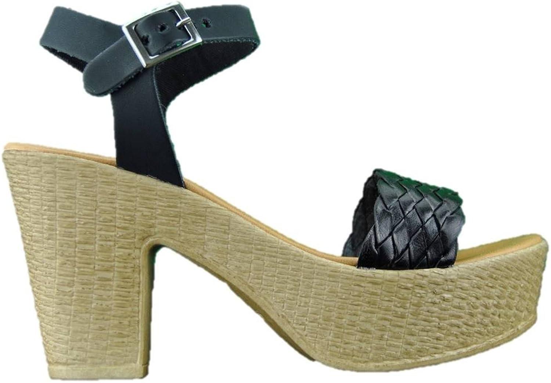 INART...women Women's Sandals with Black Heel Made in