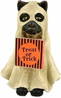 Bethany Lowe Trick or Treat Collection Halloween Ghost Cat Figure, 3