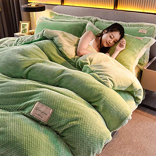 ensemble de housse de couette simple-Hiver épais flanelle chaud lit king-size housse de couette lit double simple taie d'oreiller simple ensemble de quatre pièces-C_Couvre-lit 1,5 m (4 pièces)