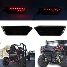 SOYAVISION 2Pcs Smoke Lens LED Tail Light Rear Driving Lamp Taillight Replacement for Polaris RZR 1000 XP/Turbo 900 S RZR 4 2014-2019