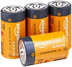 Amazon Basics D Cell Everyday - Pilas alcalinas (4 Unidades)