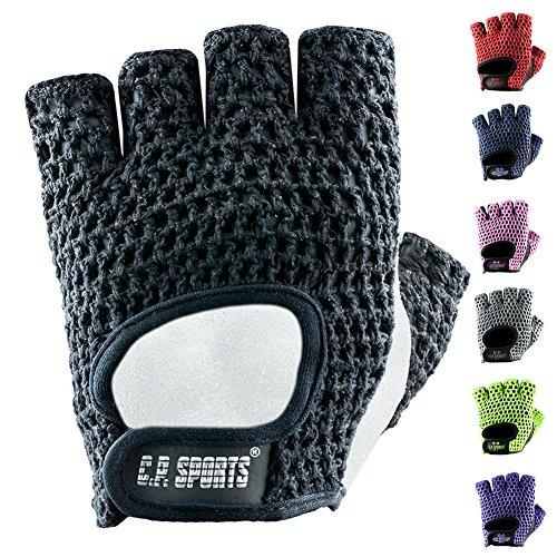 C.P. Sports - Guantes de fitness para hombre y mujer (talla L/9, 20-22 cm), color gris plateado