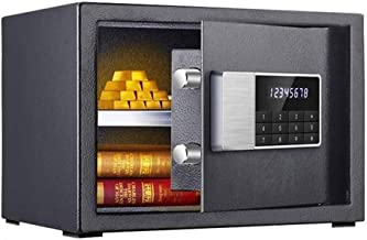Safe Office Home Small Mini Safe Fingerprint Fingerprint Anti-Theft Double Safe Deposit Box Can Be Put Into The Wall Bedsi...