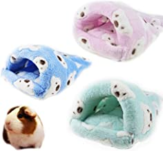 FLAdorepet Rat Hamster House Bed Winter Warm Fleece Small Pet Squirrel Hedgehog Chinchilla Rabbit Guinea Pig Bed House Cage Nest Hamster Accessories