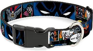 Buckle-Down Plastic Clip Collar - Batman & Joker Comic Strip - 1