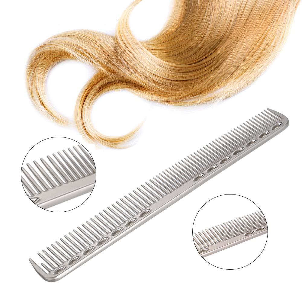 Anself Hair Comb Outstanding Salon Metal Finally popular brand Hairdressing Cutting