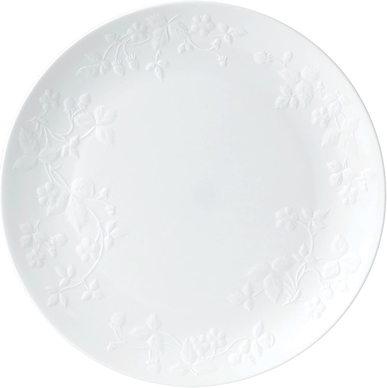 Wedgwood 40030405 Dinner Plate, 10.6 , Wild Strawberry White