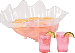 Fun Express - Large Plastic Seashell Bowl for Party - Party Supplies - Serveware & Barware - Serving Bowls - Party - 1 Piece