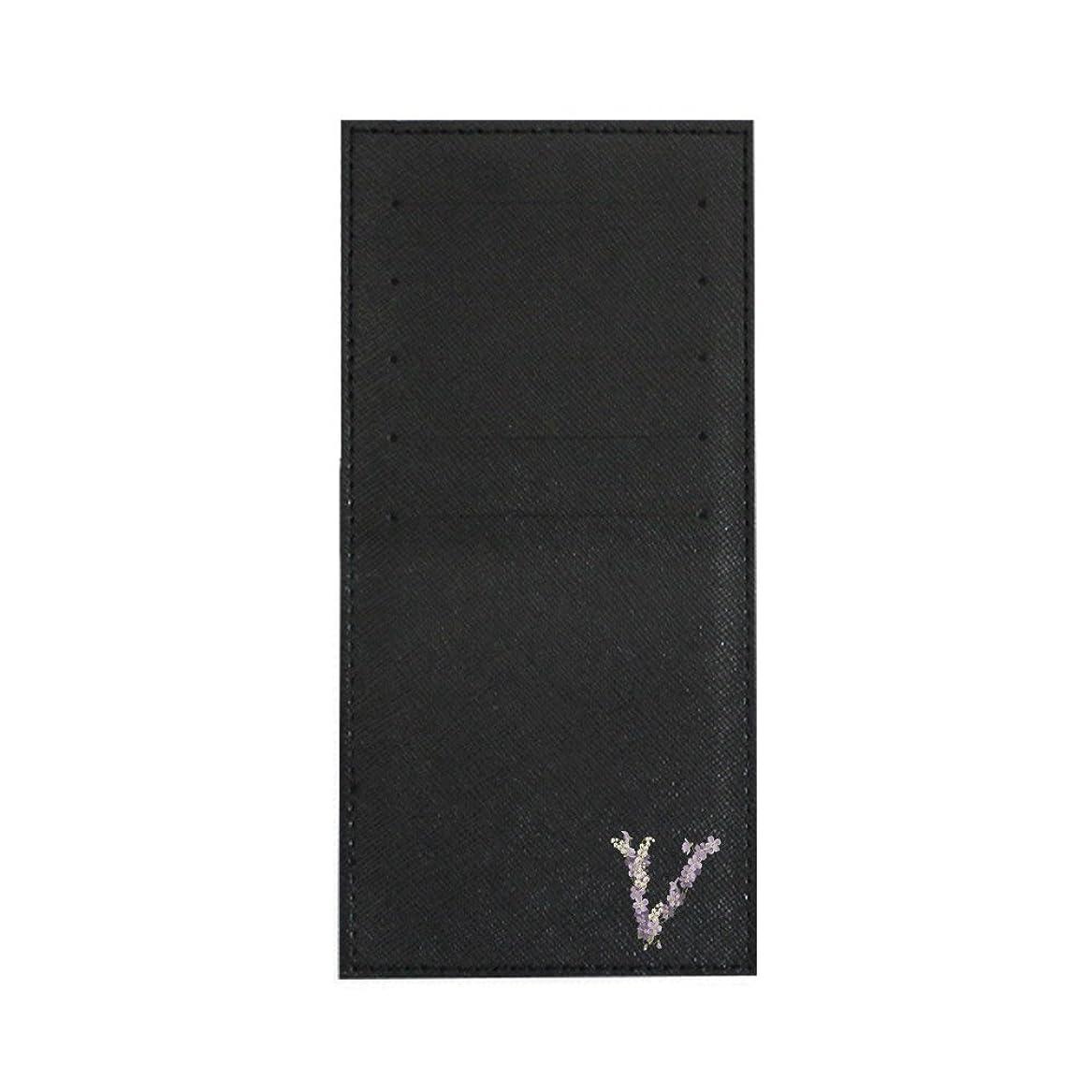 キラウエア山比喩コントロールインナーカードケース 長財布用カードケース 10枚収納可能 カード入れ 収納 プレゼント ギフト 2810フラワーネーム ( V ) ブラック mirai