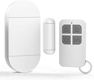 Anti -Theft Burglar Alarm with Remote, Wireless Window and Door Open Entry Alert Magnetic Contact Sensor Battery Operated ...