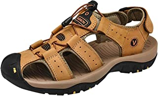 Respctful✿ Sandals Men Non-Slip Closed Toe Water Shoes Summer Casual Outdoor Sport Beach Sandal Shoes