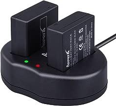 Asperx DMW-BLE9 DMW-BLG10 Battery (2-Pack) and Rapid Dual Charger for Panasonic Lumix DMC-GF3, DMC-GF5, DMC-GF6, DMC-GX7, DMC-GX85, DMC-LX100, DMC-ZS60, DMC-ZS100 Digital Cameras