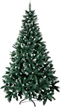 Artificial Flocked Christmas Tree with Snow Strong Metal Stand Fire Prevention Christmas Decorations for Home,1.8M