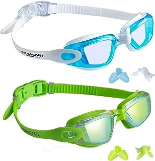 EverSport Kids Swim Goggles, Pack of 2 Kids Swimming...