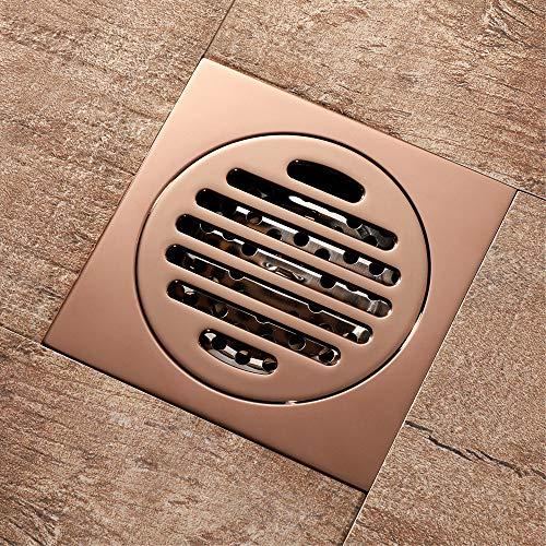 GRX-DRAIN Deodorant Reines Kupfer Bodenablauf, Duschrinne Abfluss, 100X100mm Große Verdrängung, Badezimmer, Garage, Garten Abnehmbarer Bodenablauf